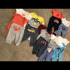 11 Carter's outfit bundle 💙6M